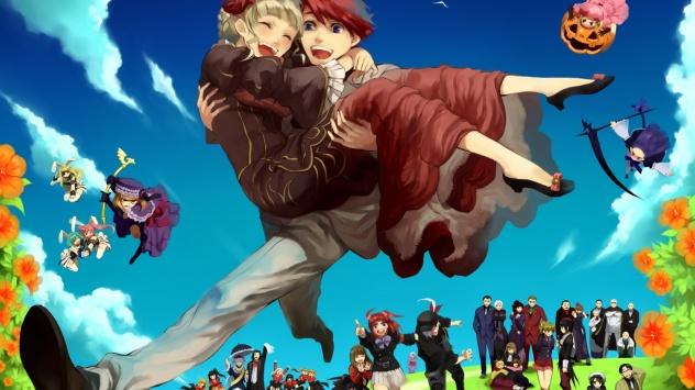 Аниме обои картинки Amakusa Juuza, Когда плачут чайки, Ushiromiya Jessica, Лямбдадельта