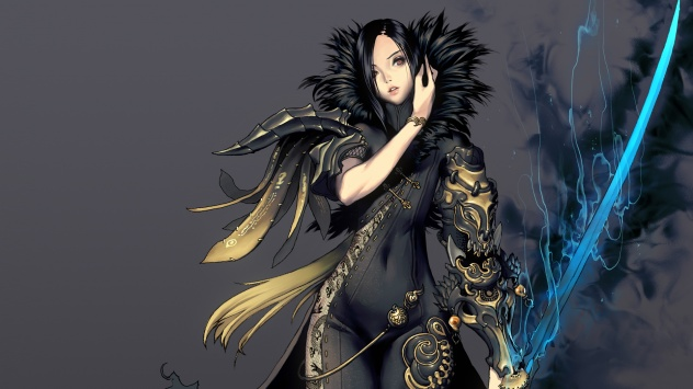 Аниме обои картинки Девушка с мечом