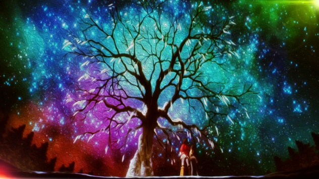 Аниме обои картинки звезды, многокрасочный, Hinazuki Kayo, снег