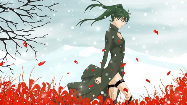 Аниме обои картинки Грэй-мен, Линали Ли в цветах