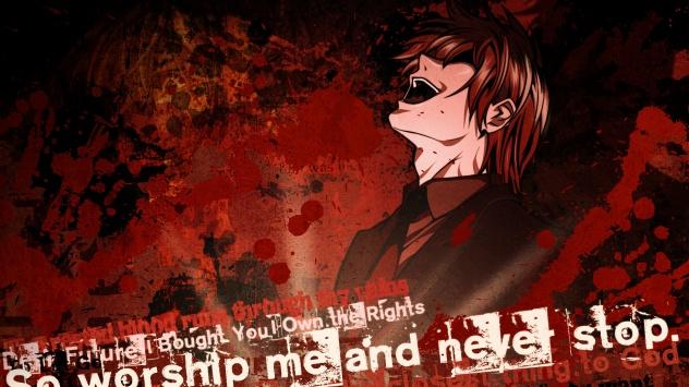 Аниме обои картинки Тетрадь Смерти, Yagami Light