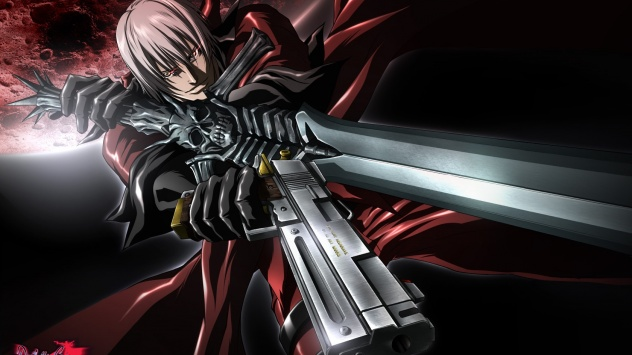 Аниме обои картинки Dante, мужчина, И дьявол может плакать, пистолет, Данте, оружие, Devil May Cry, меч