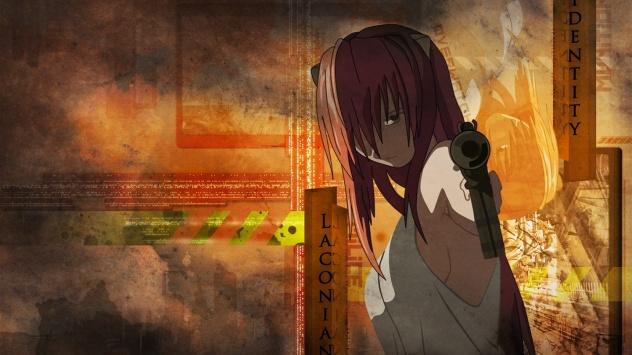 Аниме обои картинки Lucy, оружие, Эльфийская песнь, Elfen Lied, пистолет, Люси