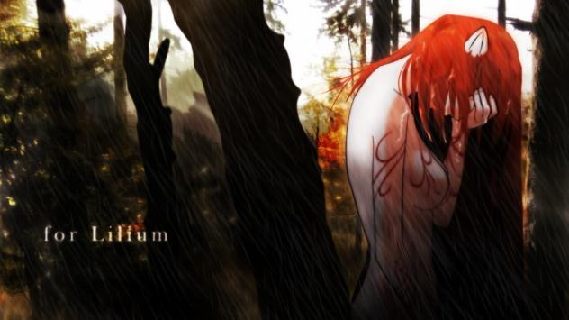 Аниме обои картинки Elfen Lied, Люси, Lucy, Эльфийская песнь, обнаженный