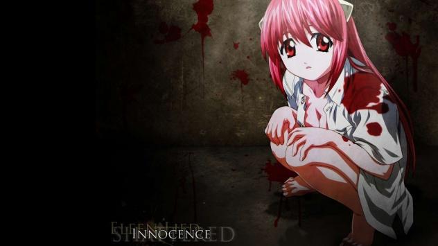 Аниме обои картинки Люси, Эльфийская песнь, кровь, Lucy, Elfen Lied