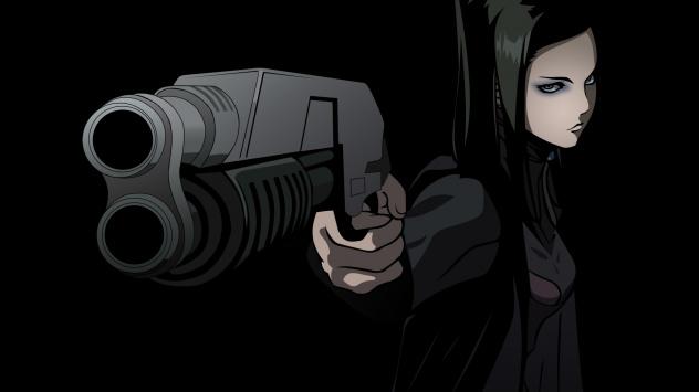 Аниме обои картинки Рил Мейер с двустволкой, Эрго Прокси