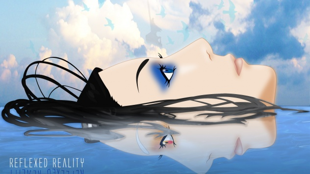 Аниме обои картинки Рил Мейер, облака, Эрго Прокси, птица, голубые глаза