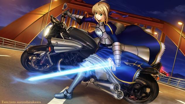 Аниме обои картинки Saber, оружие, доспехи, Судьба: Начало, мечник Сэйбер, меч