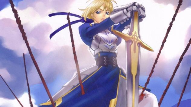 Аниме обои картинки Девушка рыцарь