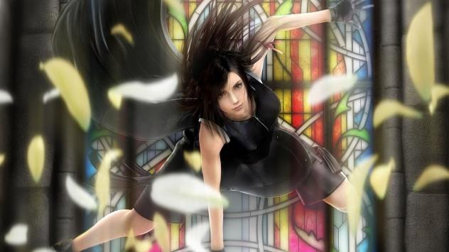 Аниме обои картинки Падающая девушка.