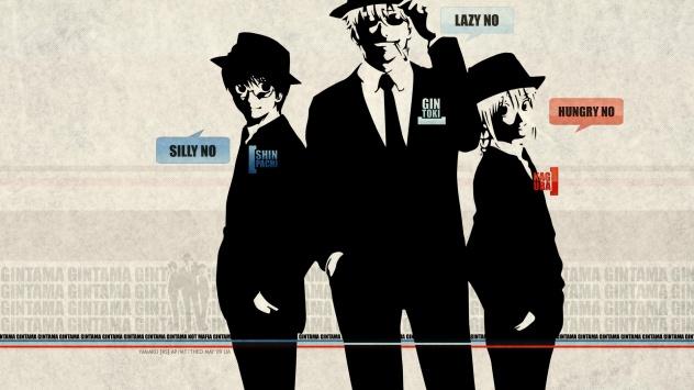 Аниме обои картинки Три мужика в костюмах и шляпах аля гангстеры