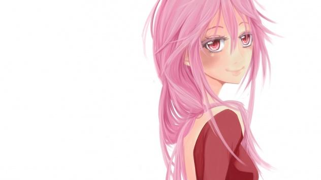 Аниме обои картинки Розоволосая красавица из аниме Корона Вины