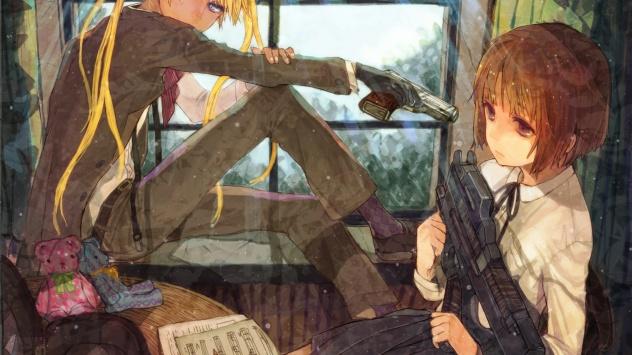 Аниме обои картинки Две девушки-убийцы из Школы Убийц