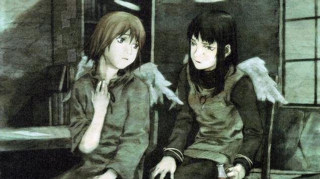 Аниме обои картинки Две девочки из аниме Союз Серокрылых