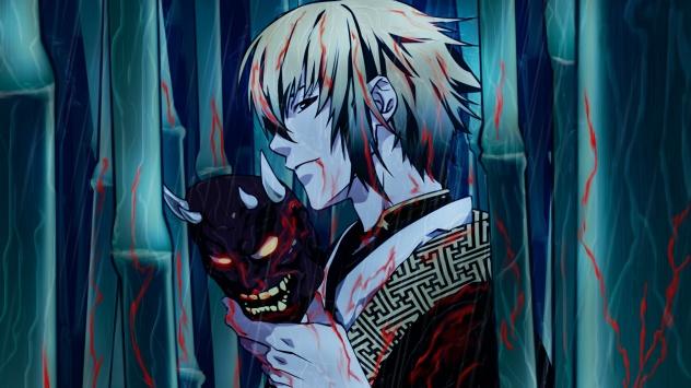 Аниме обои картинки Сказание о демонах сакуры, маска демона