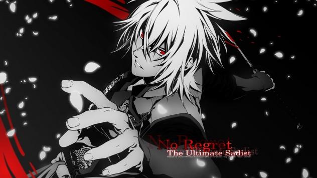 Аниме обои картинки Казами Юка, многокрасочный, Okita Souji, Лепестки, меч, оружие