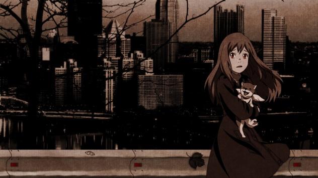 Аниме обои картинки монохромный, Morimi Saki, Восточный Эдем
