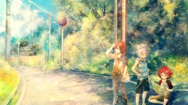 Аниме обои картинки красный окрас, Onineko, Suzuno Fuusuke, Nagumo Haruya, Kiyama Hiroto