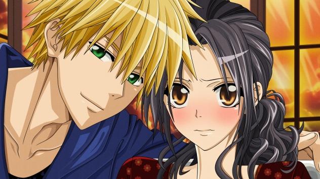 Аниме обои картинки Светлые волосы, карие глаза, Usui Takumi, черные волосы