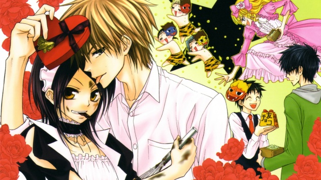 Аниме обои картинки Чиби, Киросаки Рюноске, Hyoudou Aoi, Президент - горничная!, цветы