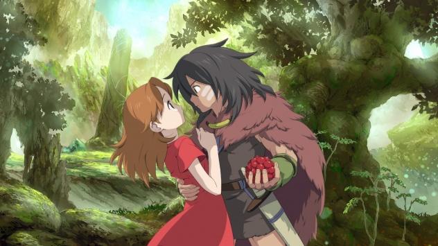 Аниме обои картинки Двоё в лесу