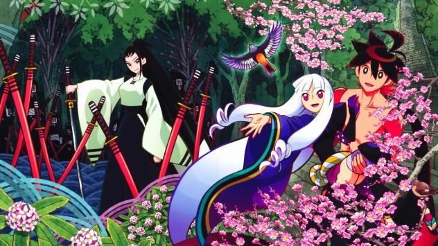 Аниме обои картинки Ясури Ситика, Цуруга Мэйсай, Тогамэ, Истории мечей