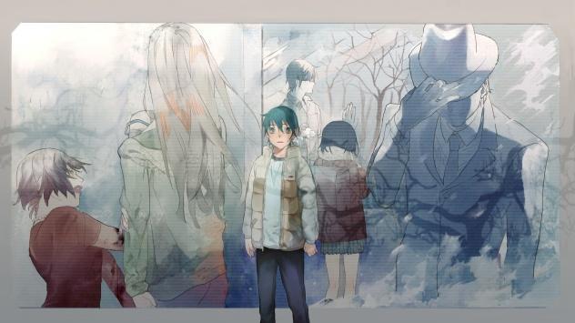 Аниме обои картинки Fujinuma Satoru, Fujinuma Sachiko, мужчина, шляпа, длинные волосы