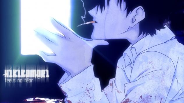 Аниме обои картинки Курящий Сато. Аниме Добро пожаловать в Эн.Эйч.Кэй.