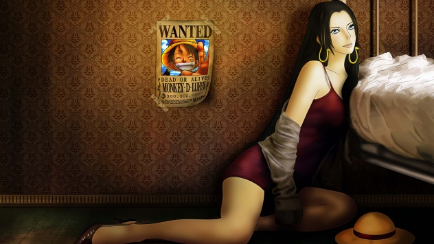 Аниме обои картинки Пиратская Императрица Боа Хэнкок из Ван Писа