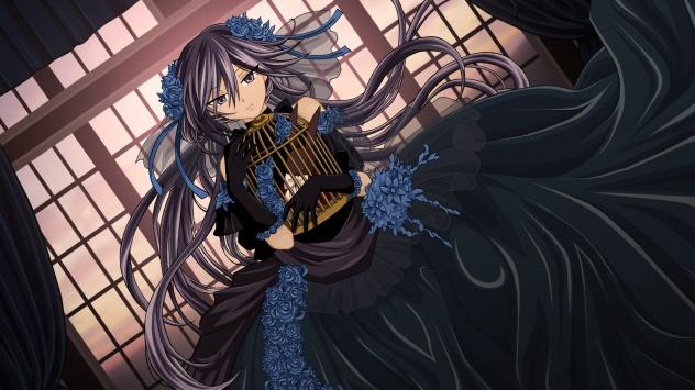 Аниме обои картинки Алиса в красивом чёрном платье