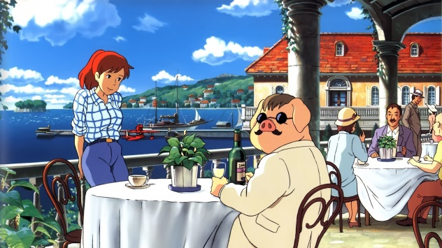 Аниме обои картинки Порко Россо, Ghibli, Гибли
