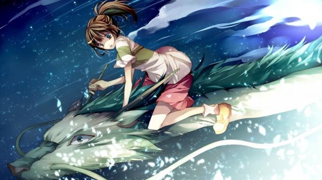 Аниме обои картинки Унесенные призраками, Тихиро Огино