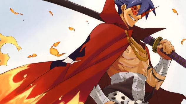 Аниме обои картинки Kamina, Камина, меч, Гуррен-Лаганн, оружие