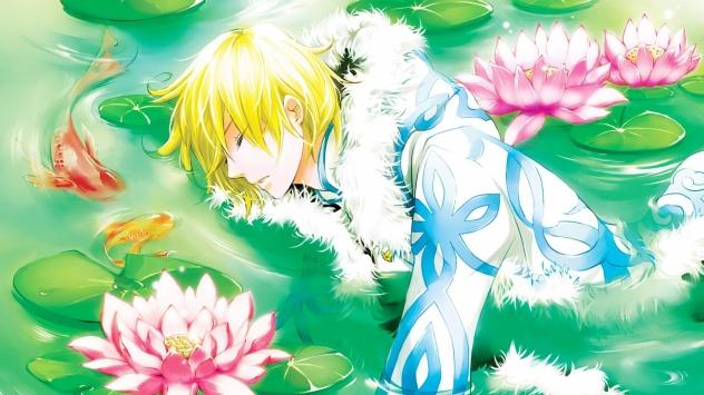 Аниме обои картинки Хроника Крыльев, цветы, Fye D. FlowRight, сон