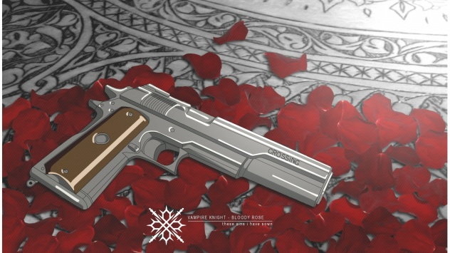 Аниме обои картинки Пистолет, Рыцарь-вампир, оружие